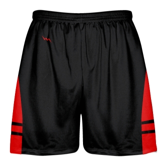 Black Red Youth Adult Lacrosse Shorts