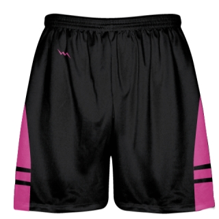 Black Hot Pink Youth Adult Lacrosse Shorts