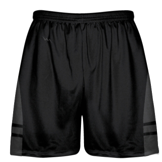 Black Charcoal Gray Youth Adult Lacrosse Shorts