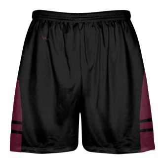 Black Maroon Youth Adult Lacrosse Shorts