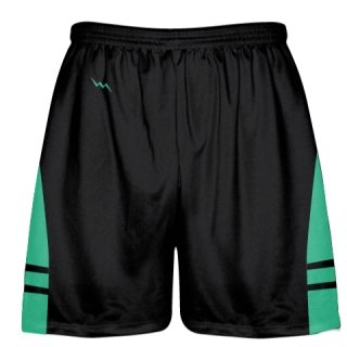 Black Teal Kids Adult Lacrosse Shorts