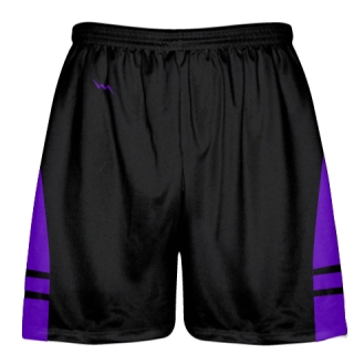 Black Purple Kids Adult Lacrosse Shorts