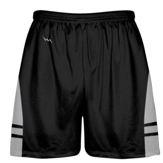 Black Silver OG Lacrosse Shorts - Boys Mens Shorts