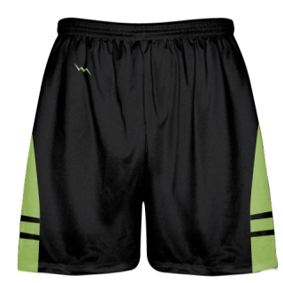 Black Lime Green OG Lacrosse Shorts - Boys Mens Shorts