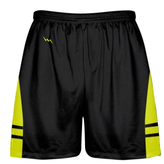 Black Yellow OG Lacrosse Shorts - Boys Mens Shorts