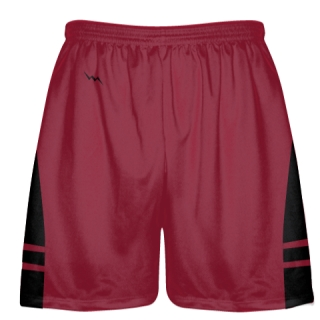 Cardinal Red Black OG Lacrosse Shorts - Mens Boy Lacrosse Shorts