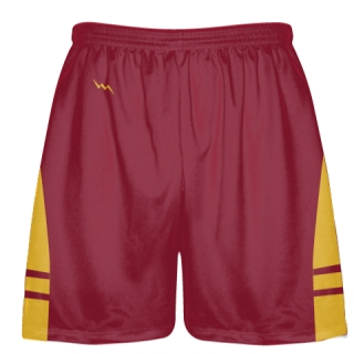 Cardinal Red Gold OG Lacrosse Shorts - Mens Boy Lacrosse Shorts