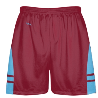 Cardinal Red Light Blue OG Lacrosse Shorts - Mens Boy Lacrosse Shorts