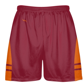 Cardinal Red Orange OG Lacrosse Shorts - Mens Boy Lacrosse Shorts