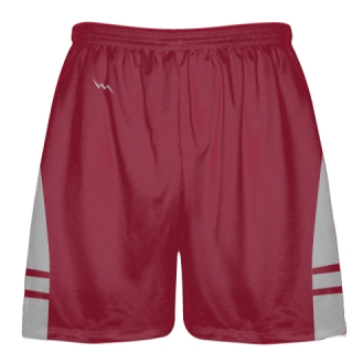 Cardinal Red Gray OG Lacrosse Shorts - Mens Boy Lacrosse Shorts