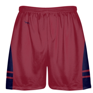 Cardinal Red Navy Blue OG Lacrosse Shorts - Mens Boy Lacrosse Shorts