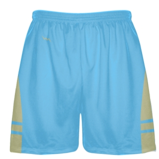 Powder Blue Vegas Gold Lacrosse Shorts - Mens Boy Lacrosse Shorts