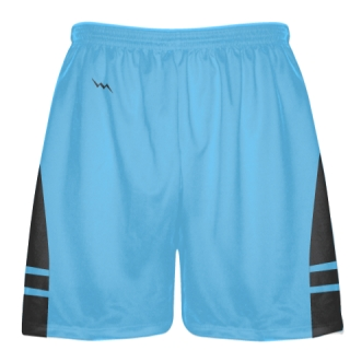 Powder Blue Charcoal Gray Lacrosse Shorts - Mens Boy Lacrosse Shorts