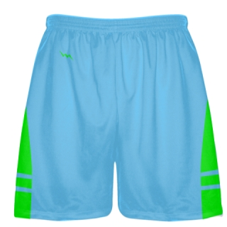 Powder Blue Neon Gren Lacrosse Shorts - Mens Boy Lacrosse Shorts