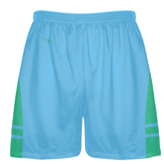 Powder Blue Teal Blue Lacrosse Shorts - Mens Boy Lacrosse Shorts
