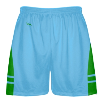 Powder Blue Kelly Green Lacrosse Shorts - Mens Boy Lacrosse Shorts
