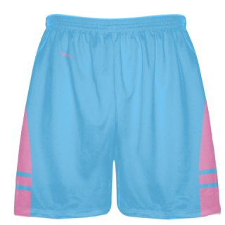 Powder Blue Pink Lacrosse Shorts - Mens Boy Lacrosse Shorts