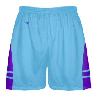 Powder Blue Purple Lacrosse Shorts - Mens Boy Lacrosse Shorts