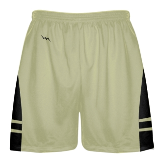 Vegas Gold Black Boys Lacrosse Shorts - Mens Lax Shorts