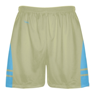 Vegas Gold Powder Blue Boys Lacrosse Shorts - Mens Lax Shorts