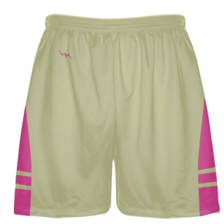 Vegas Gold Hot Pink Sublimated Lacrosse Shorts - Boys Mens Shorts