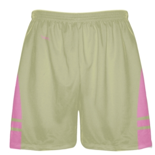 Vegas Gold Light Pink Sublimated Lacrosse Shorts - Boys Mens Shorts