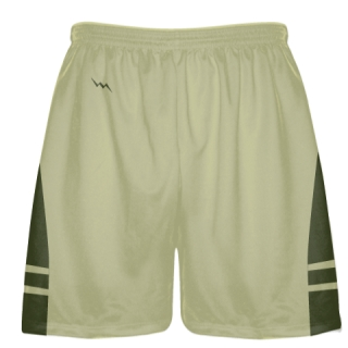 Vegas Gold Olive Green Sublimated Lacrosse Shorts - Boys Mens Shorts