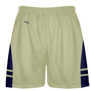 Vegas Gold Navy Blue Sublimated Lacrosse Shorts - Boys Mens Shorts