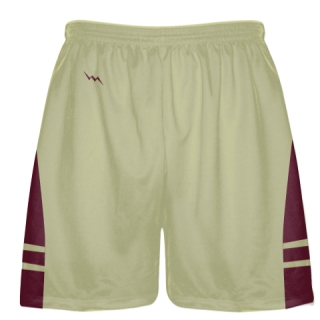 Vegas Gold Maroon Sublimated Lacrosse Shorts - Boys Mens Shorts