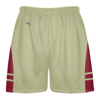 Vegas Gold Cardinal Red Sublimated Lacrosse Shorts - Boys Mens Shorts