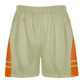 Vegas Gold Orange Sublimated Lacrosse Shorts - Boys Mens Shorts
