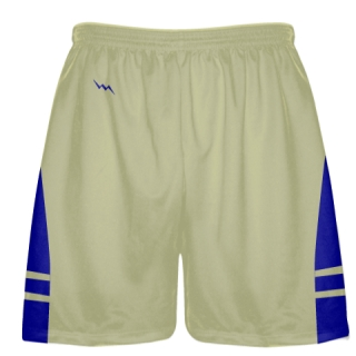 Vegas Gold Royal Blue Sublimated Lacrosse Shorts - Boys Mens Shorts