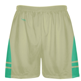 Vegas Gold Teal Sublimated Lacrosse Shorts - Boys Mens Shorts