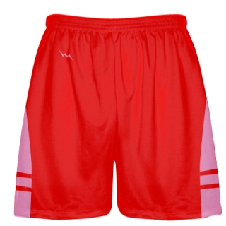 Red Pink Mens Lacrosse Shorts - Sublimated Lacrosse Apparel