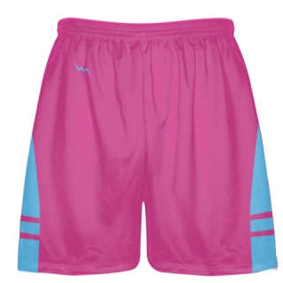Hot Powder Blue Lax Shorts - Boys Mens Lacrosse Shorts