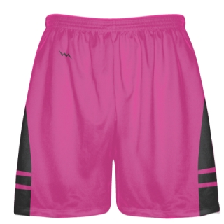 Hot Pink Charcoal Lax Shorts - Boys Mens Lacrosse Shorts