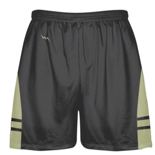 Charcoal Gray Vegas Gold Lacrosse Shorts - Dye Sublimation Short