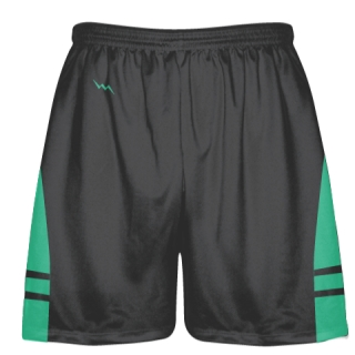 Charcoal Gray Teal Green Lacrosse Shorts - Dye Sublimation Short
