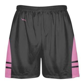 Charcoal Gray Pink Lacrosse Shorts - Dye Sublimation Short