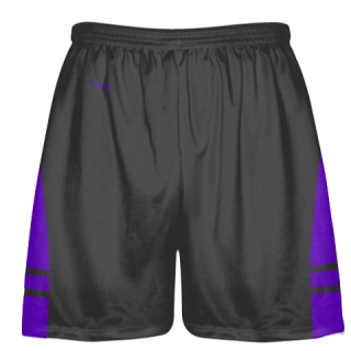 Charcoal Gray Purple Lacrosse Shorts - Dye Sublimation Short