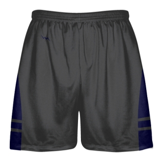 Charcoal Gray Navy Blue Lacrosse Shorts - Dye Sublimation Short