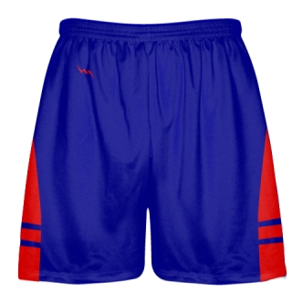 Royal Blue Red Lacrosse Shorts OG - Lax Shorts Mens Boys