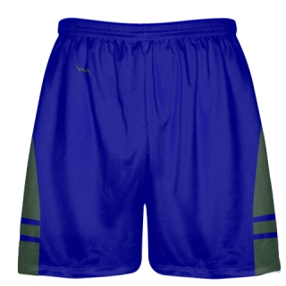 Royal Blue Dark Green Lacrosse Shorts OG - Lax Shorts Mens Boys