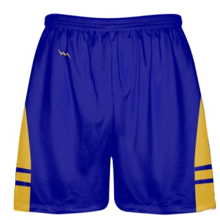 Royal Blue Gold Lacrosse Shorts OG - Lax Shorts Mens Boys