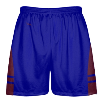 Royal Blue Maroon Lacrosse Shorts OG - Lax Shorts Mens Boys