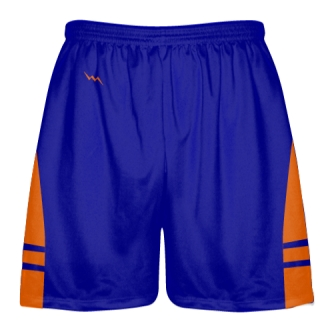 Royal Blue Orange Lacrosse Shorts OG - Lax Shorts Mens Boys