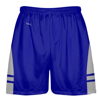 Royal Blue Silver Lacrosse Shorts OG - Lax Shorts Mens Boys