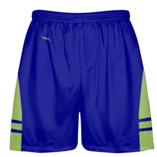 Royal Blue Lime Green Lacrosse Shorts OG - Lax Shorts Mens Boys