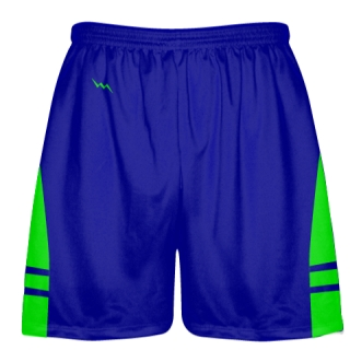 Royal Blue Neon Green Lacrosse Shorts OG - Lax Shorts Mens Boys