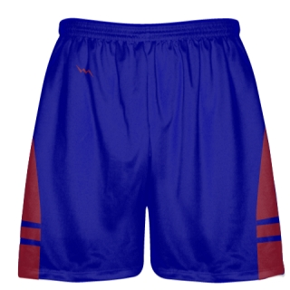 Royal Blue Cardinal Red Lacrosse Shorts OG - Lax Shorts Mens Boys